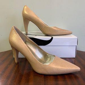 Nine West Aurra Nude Pointed Toe High Heels 7.5